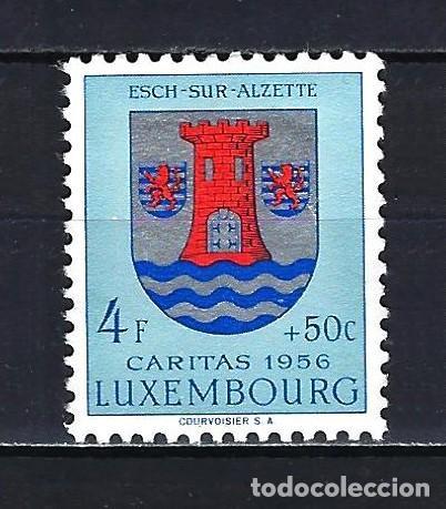 1956 LUXEMBURGO MICHEL 565 YVERT 524 - ESCUDO -CÁRITAS - MNH* NUEVO SIN FIJASELLOS (Sellos - Extranjero - Europa - Luxemburgo)