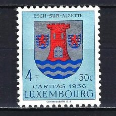 Sellos: 1956 LUXEMBURGO MICHEL 565 YVERT 524 - ESCUDO -CÁRITAS - MNH* NUEVO SIN FIJASELLOS. Lote 206325903