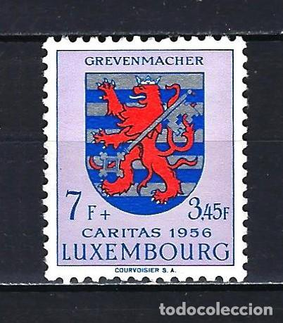 1956 LUXEMBURGO MICHEL 566 YVERT 525 - ESCUDO -CÁRITAS - MNH* NUEVO SIN FIJASELLOS (Sellos - Extranjero - Europa - Luxemburgo)