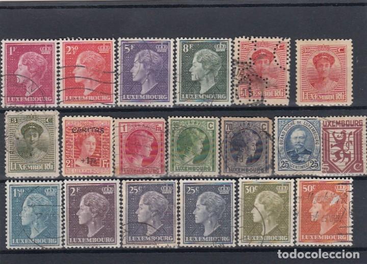 Sellos: Colección de sellos de Luxemburgo. Usados y algunos nuevos con charnelas. - Foto 2 - 210180830