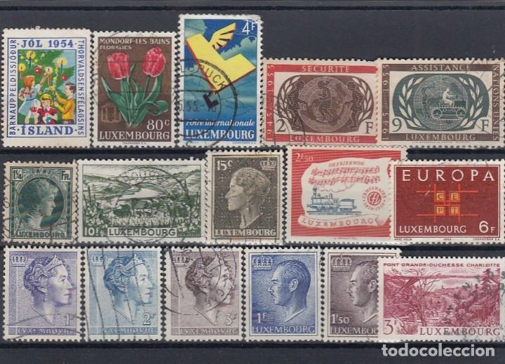 Sellos: Colección de sellos de Luxemburgo. Usados y algunos nuevos con charnelas. - Foto 3 - 210180830