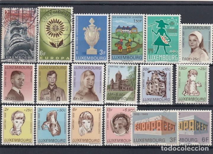 Sellos: Colección de sellos de Luxemburgo. Usados y algunos nuevos con charnelas. - Foto 4 - 210180830