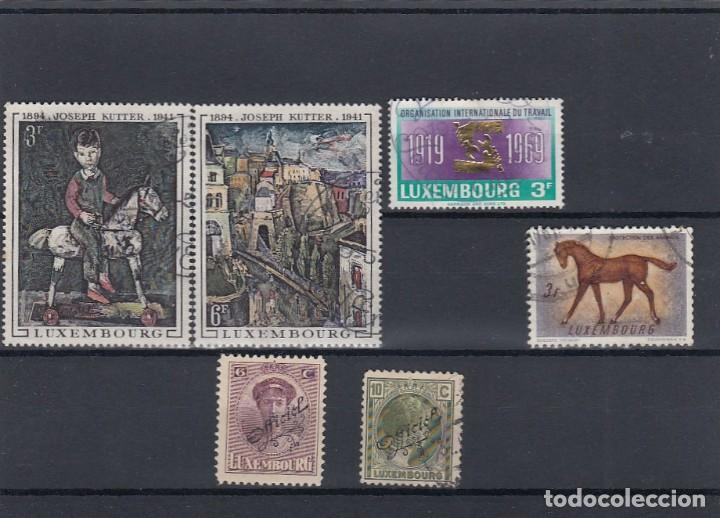 Sellos: Colección de sellos de Luxemburgo. Usados y algunos nuevos con charnelas. - Foto 5 - 210180830