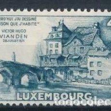 Sellos: LUXEMBURGO 1953 IVERT 472 ** 150º ANIVERSARIO DEL NACIMIENTO DE VICTOR HUGO - MONUMENTOS. Lote 210555206