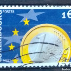 Sellos: LUXEMBURGO 2001 ENTRADA EN EL EURO SELLO USADO DE 1 €. Lote 211936883