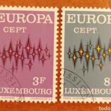 Sellos: LUXEMBURGO, EUROPA CEPT 1972 USADA (FOTOGRAFÍA REAL). Lote 212502275
