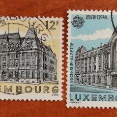 Timbres: LUXEMBURGO, EUROPA CEPT 1990 USADOS (FOTOGRAFÍA REAL). Lote 213730470