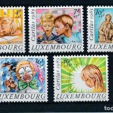 Sellos: LUXEMBURGO 1985 IVERT 1088/92 *** CARITAS - JUEGOS INFANTILES Y NAVIDAD. Lote 215272343