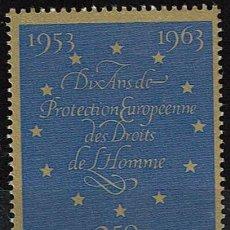 Sellos: LUXEMBURGO 1963 - 10º ANIV. CONVENCION EUROPEA DERECHOS HUMANOS. Lote 217824621