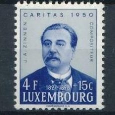Sellos: LUXEMBURGO 1950 IVERT 440/42 ** COMPOSITOR J. A. ZINNEN - MÚSICA - PERSONAJES. Lote 218600698