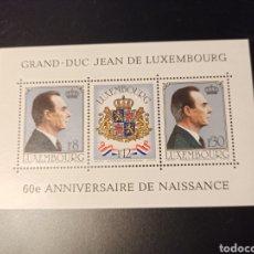 Sellos: 3 SELLOS LUXEMBURGO, SERIE 60 ANIVESARIO GRAND-DUC JEAN DE 1981, NUEVOS SIN MARCAS. Lote 218613026