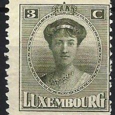 Timbres: LUXEMBURGO 1921-22 - GRAN DUQUESA CARLOTA - MH*. Lote 222887690