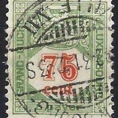 Timbres: LUXEMBURGO 1922-35 - SELLO DE FRANQUEO, NUMÉRICO, VALOR EN ROJO - USADO. Lote 222963242