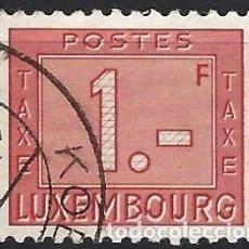 Timbres: LUXEMBURGO 1946-47 - SELLO DE FRANQUEO, NUMÉRICO, NUEVO DISEÑO - USADO. Lote 222963605