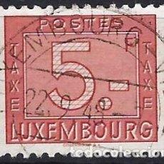 Timbres: LUXEMBURGO 1946-47 - SELLO DE FRANQUEO, NUMÉRICO, NUEVO DISEÑO - USADO. Lote 222963761