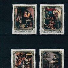 Sellos: LUXEMBURGO 1984 IVERT 1050/53 *** CUADROS DEL MUSEO JEAN PIERRE PESCATORES - PINTURA. Lote 225154875