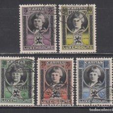 Sellos: LUXEMBURGO, 1926 YVERT Nº 182 / 186, PRÍNCIPE JUAN. Lote 232906625