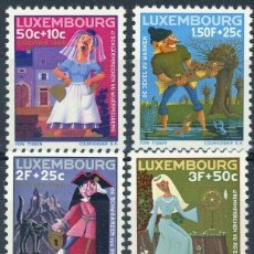 Sellos: LUXEMBURGO 1966 IVERT 691/6 *** PRO OBRAS SOCIALES - CARITAS - FABULAS. Lote 233650515
