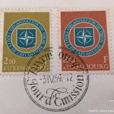 Sellos: 1959.LUXEMBURGO. 10º ANIVERSARIO OTAN, MATASELLOS 1º. DIA . *,MH( 21-193). Lote 251457710
