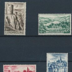 Sellos: LUXEMBURGO 1948 IVERT 406/9 *** VISTAS Y PAISAJES DE LUXEMBURGO. Lote 253131815