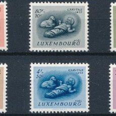 Sellos: LUXEMBURGO 1955 IVERT 500/5 *** PRO OBRAS SOCIALES - CARITAS. Lote 253132135