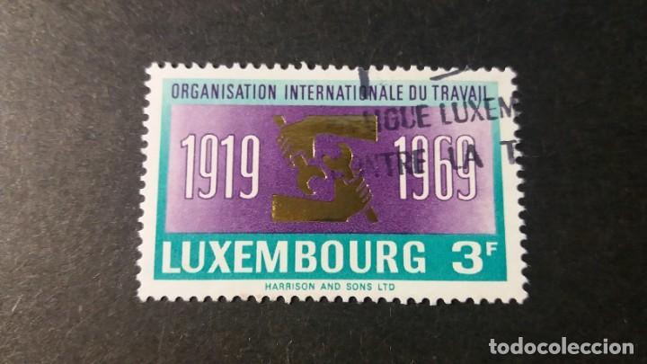SELLO USADO. LUXEMBURGO. ORGANIZACIÓN INTERNACIONAL TRABAJO. 19 DE MAYO DE 1969. YVERT 740. (Sellos - Extranjero - Europa - Luxemburgo)