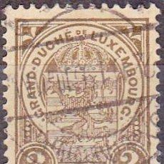 Sellos: 1907 - LUXEMBURGO - ESCUDO NACIONAL - YVERT 90. Lote 257617855