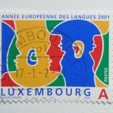 Sellos: LUXEMBURGUO 2001 AÑO DE LAS LENGUAS SELLO USADO. Lote 257766355