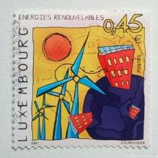 Sellos: LUXEMBURGO 2001 ENERGÍAS RENOVABLES SELLO USADO. Lote 257766545