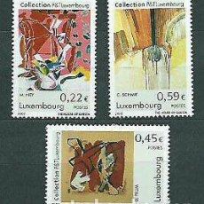 Sellos: LUXEMBURGO 2002 IVERT 1517/9 *** COLECCIÓN DE ARTE DE LOS P & T DE LUXEMBURGO - PINTURA. Lote 259267305