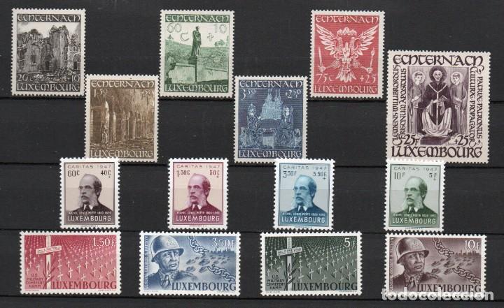 LUXEMBURGO AÑO 1947 YV 392/05*** AÑO COMPLETO -- LUJO -- (Sellos - Extranjero - Europa - Luxemburgo)