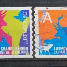 Sellos: LUXEMBURGO 2007 CAPITAL EUROPEA CULTURAL SERIE DE SELLOS USADOS. Lote 261333140