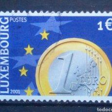 Sellos: LUXEMBURGO 2001 LLEGADA DEL EURO SELLO USADO DE 1,00 €. Lote 277553903