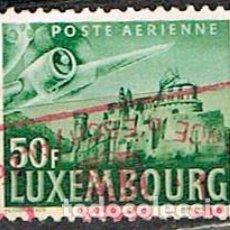 Sellos: LUXEMBURGO IVERT AEREO Nº 15 (AÑO 1946), AVIÓN SOBREVOLANDO EL CASTILLO DE VIANDEN, USADO. Lote 278390608
