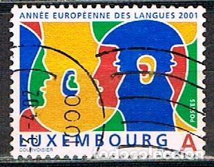 LUXEMBURGO Nº 1544, 2001 AÑO EUROPEO DE LAS LENGUAS, USADO (Sellos - Extranjero - Europa - Luxemburgo)