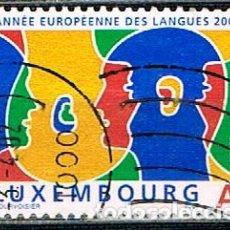 Sellos: LUXEMBURGO Nº 1544, 2001 AÑO EUROPEO DE LAS LENGUAS, USADO. Lote 278392838