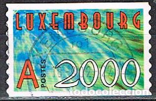 LUXEMBURGO Nº 1491, AUTO ADHESIVOS, AÑO 2000, USADO (Sellos - Extranjero - Europa - Luxemburgo)