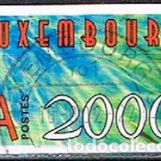 Sellos: LUXEMBURGO Nº 1491, AUTO ADHESIVOS, AÑO 2000, USADO. Lote 278394158