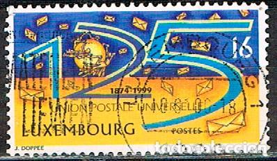 LUXEMBURGO IVERT Nº 1428, 125 ANIVERSARIO DE LA UNIÓN POSTAL UNIVERSAL UPU, USADO (Sellos - Extranjero - Europa - Luxemburgo)