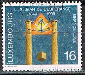 LUXEMBURGO IVERT Nº 1409, 150 ANIVERSARIO DE LA LOGIA MASÓNICA DE SAN JUAN DE LA ESPERANZA., USADO (Sellos - Extranjero - Europa - Luxemburgo)