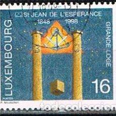 Sellos: LUXEMBURGO IVERT Nº 1409, 150 ANIVERSARIO DE LA LOGIA MASÓNICA DE SAN JUAN DE LA ESPERANZA., USADO. Lote 278395328