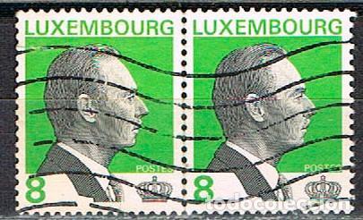 LUXEMBURGO IVERT Nº 1411, GRAN DUQUE JUAN., USADO EN PAREJA (Sellos - Extranjero - Europa - Luxemburgo)