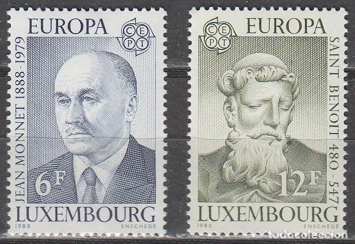 LUXEMBURGO IVERT Nº 959/60, EUROPA 1980, JEAN MONNET Y SAN BENITO DE NURSIA NUEVO *** SERIE COMPLETA (Sellos - Extranjero - Europa - Luxemburgo)