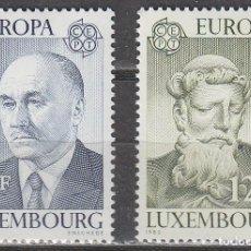 Sellos: LUXEMBURGO IVERT Nº 959/60, EUROPA 1980, JEAN MONNET Y SAN BENITO DE NURSIA NUEVO *** SERIE COMPLETA. Lote 278404893