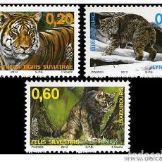 Sellos: LUXEMBOURG 2013 - FELIDS STAMP SET MNH. Lote 278628538
