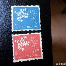 Sellos: +LUXEMBURGO,1961, EUROPA, YVERT 601/2. Lote 288079803