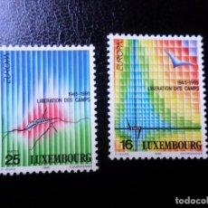 Sellos: +LUXEMBURGO, 1995,EUROPA, PAZ Y LIBERTAD, YVERT 1318/9. Lote 288080998
