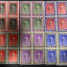 Sellos: LUXEMBURGO, 1937. YVERT 294/99. SERIE COMPLETA. NUEVOS. SIN CHARNELA. BLOQUE DE 4. VER. Lote 290926968