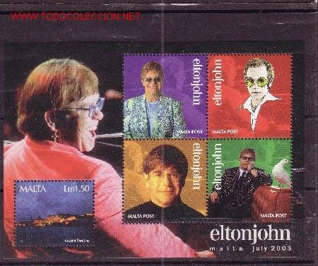 MALTA HB 25*** - AÑO 2003 - MÚSICA - HOMENAJE A ELTON JOHN (Sellos - Extranjero - Europa - Malta)