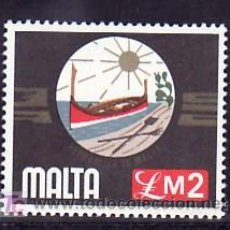 Sellos: MALTA 519 SIN CHARNELA, BARCO, EMBLEMA NACIONAL, . Lote 11720321